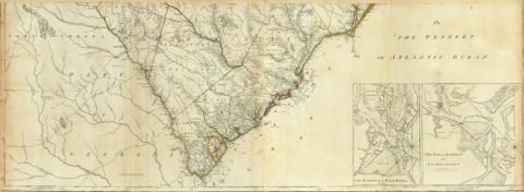 1776 Map Of Map Of North And South Carolina With Their Indian Frontiers - Southern Section
