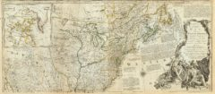 1776 Map of North America - Northern section