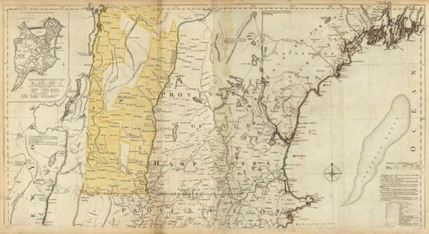 1776 Map of The Provinces of Massachusetts Bay and New Hampshire - Northern section
