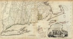 1776 Map of the most Inhabited part of New England, containing the Provinces of Massachusetts and New Hampshire with Colonies of Connecticut And Rhode Island, Divided into Counties and Townships - Southern section