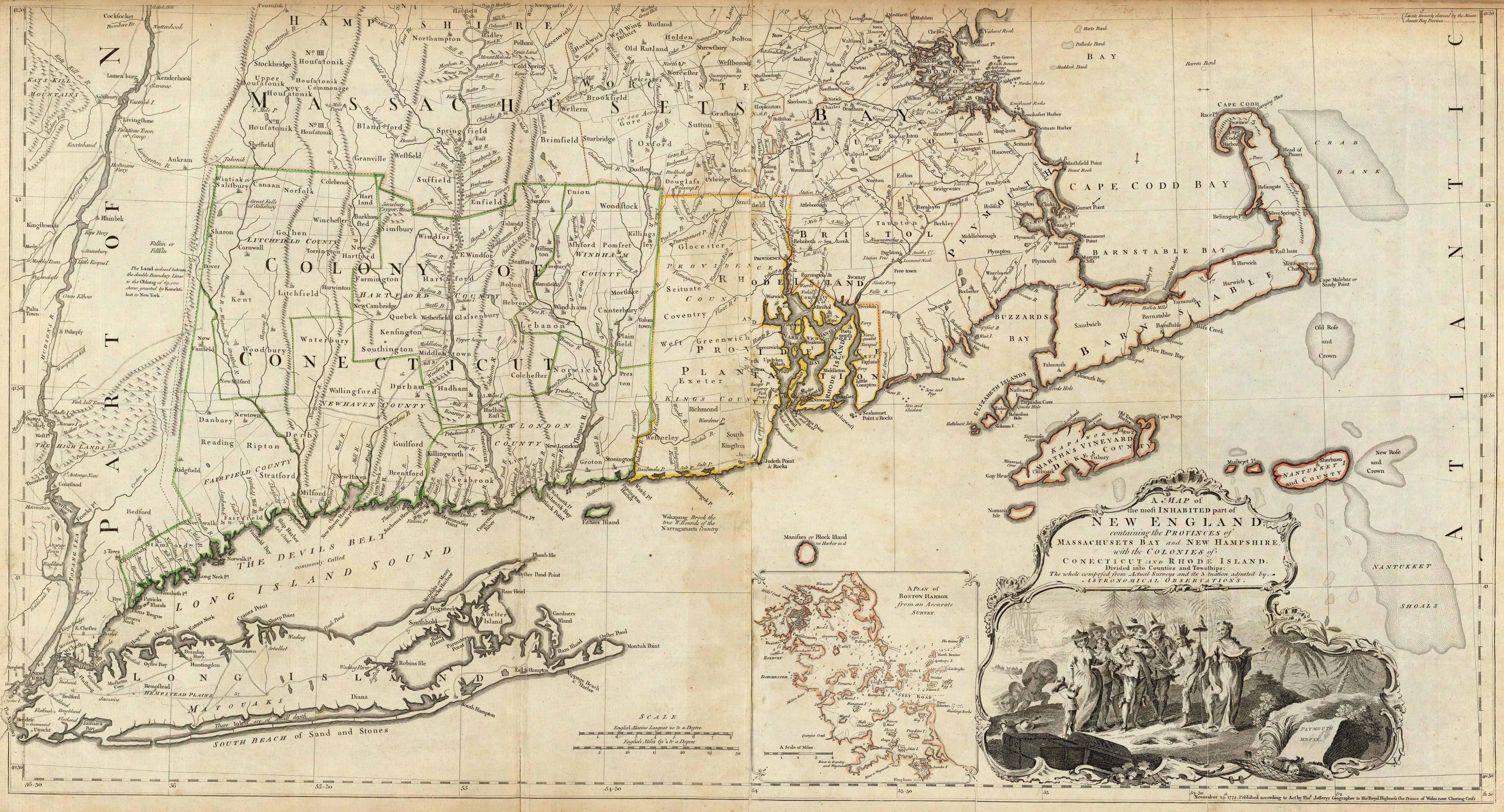 Old Historical City, County and State Maps of New Hampshire on