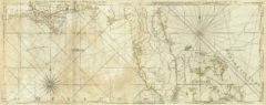 1776 Map of the Coast of West Florida and Louisiana with the Bahama Islands