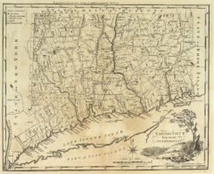 1795 State Map of Connecticut from the best Authorities