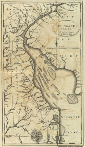 1795 State Map of Delaware from the best Authorities