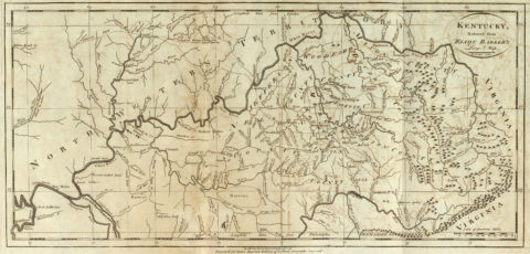 1795 State Map of Kentucky Reduced from Elihu Barker's Large Map