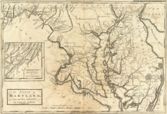 1795 State Map of Maryland, from the best Authorities