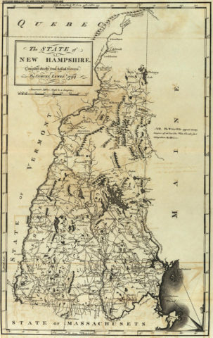 1795 State Map of New Hampshire Compiled chiefly from Actual Surveys
