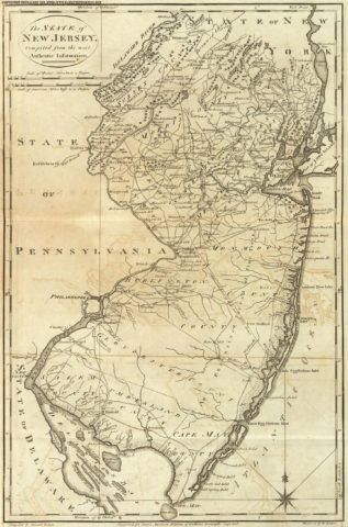 1795 State Map of New Jersey Compiled from the most Authentic Information