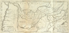 1795 State Map of Tennessee Government formerly Part of North Carolina taken Chiefly from Surveys