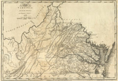 1795 State Map of Virginia Compiled from the best Authorities