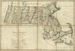 1796 State Map of Massachusetts Shows counties and minor civil subdivisions