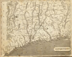1804 State Map of Connecticut