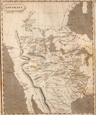 1804 State Map of Louisiana