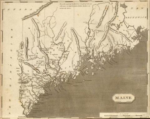 1804 Map of Maine
