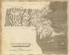 1804 State Map of Massachusetts