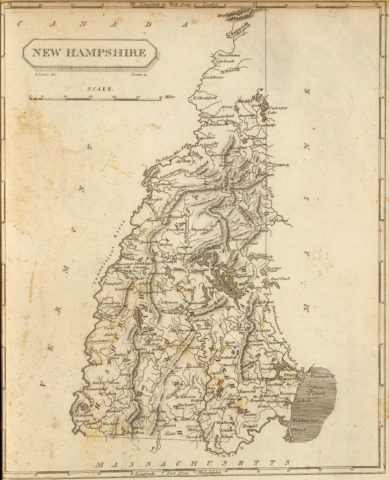 1804 State Map of New Hampshire