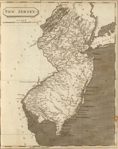 1804 State Map of New Jersey
