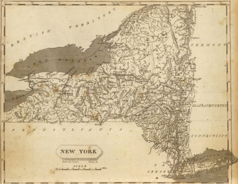 1804 Map of New York
