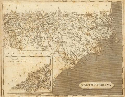 1804 Map of North Carolina