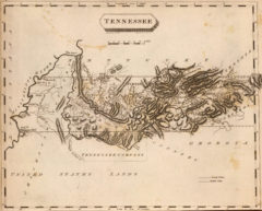 1804 State Map of Tennessee