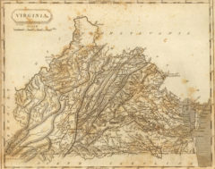 1804 State Map of Virginia