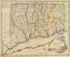1814 State Map of Connecticut