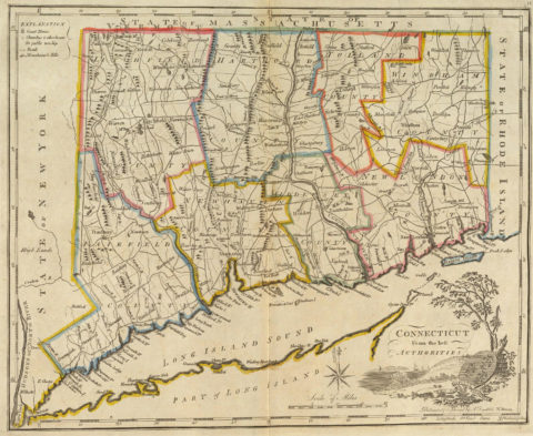 1814 Map of Connecticut