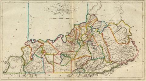 1814 Map of Kentucky