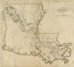 1814 State Map of Louisiana