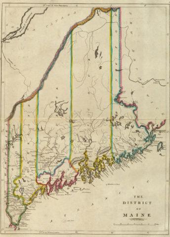 1814 Map of Maine