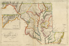 1814 Map of Maryland