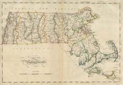 1814 State Map of Massachusetts