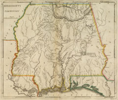 1814 Map of Mississippi