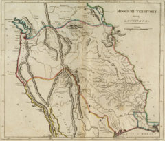1814 State Map of Arkansas and Missouri
