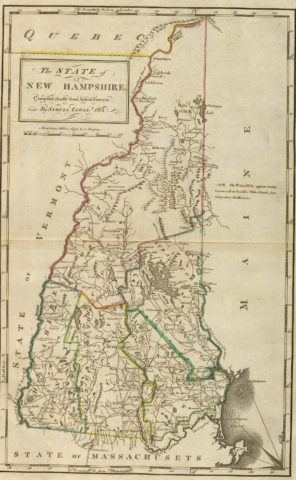 1814 State Map of New Hampshire