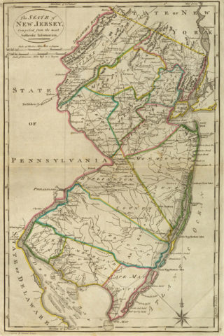 1814 State Map of New Jersey
