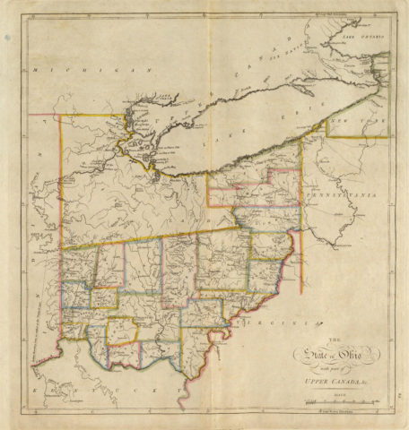 1814 State Map of Ohio