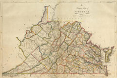 1814 State Map of Virginia
