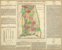 1822 Geographical, Historical and Statistical State Map of Alabama