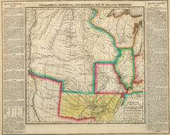 1822 Geographical, Statistical and Historical State Map of Arkansas