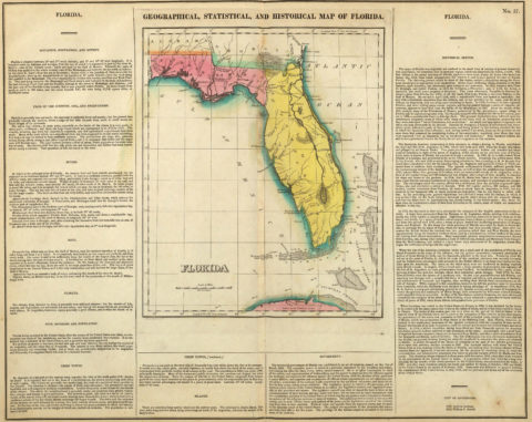1822 Geographical, Historical and Statistical Map of Florida