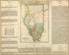 1822 Geographical, Historical and Statistical State Map of Illinois