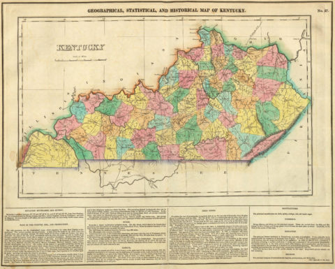 1822 Geographical, Historical and Statistical Map of Kentucky