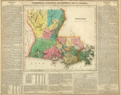 1822 Geographical, Historical and Statistical State Map of Louisiana