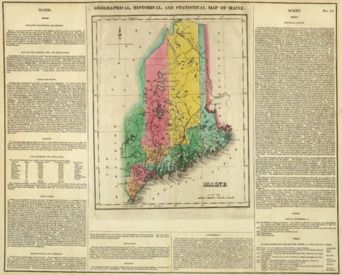 1822 Geographical, Historical and Statistical Map of Maine