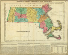 1822 Geographical, Historical and Statistical State Map of Massachusetts