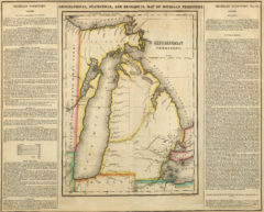 1822 Geographical, Historical and Statistical State Map of Michigan Territory