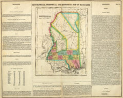1822 Geographical, Historical and Statistical State Map of Mississippi