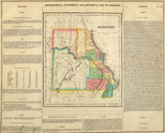1822 Geographical, Historical and Statistical State Map of Missouri