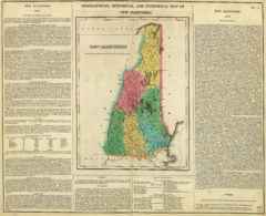1822 Geographical, Historical and Statistical State Map of New Hampshire
